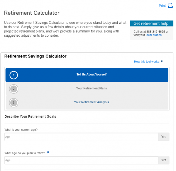 Charles Schwab Retirement Calculator