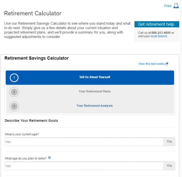 Charles Schwab Retirement Calculator