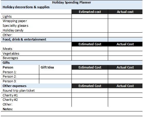 holidy-spending-planner