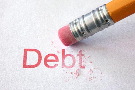 debt pencil eraser