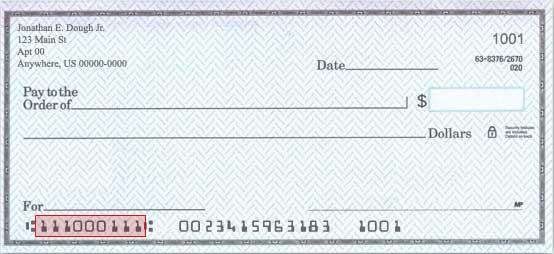 Bank Check Routing