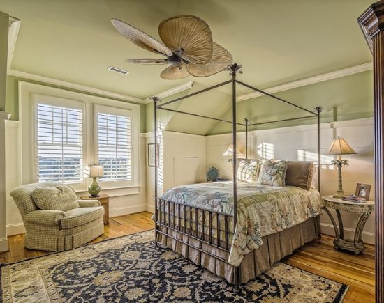 bedroom in house