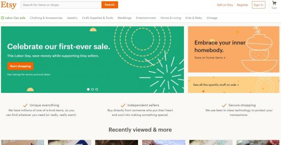 etsy we make it easy to find your thing
