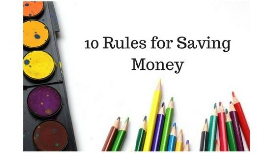 10 Rules for Saving Money